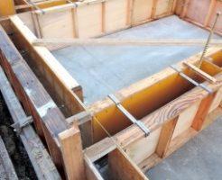 コンクリートの型枠大工